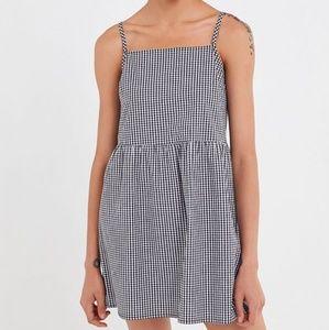UO Urban Renew Gingham Sleeveless Babydoll dress